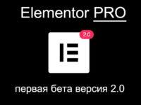 elementor pro 2 beta 1